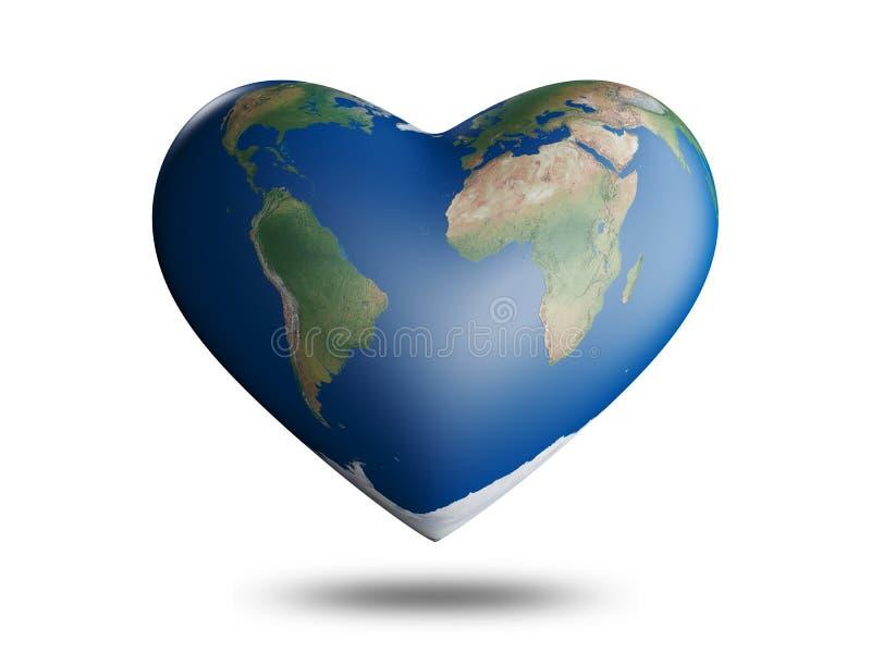 Corazón de la tierra stock de ilustración