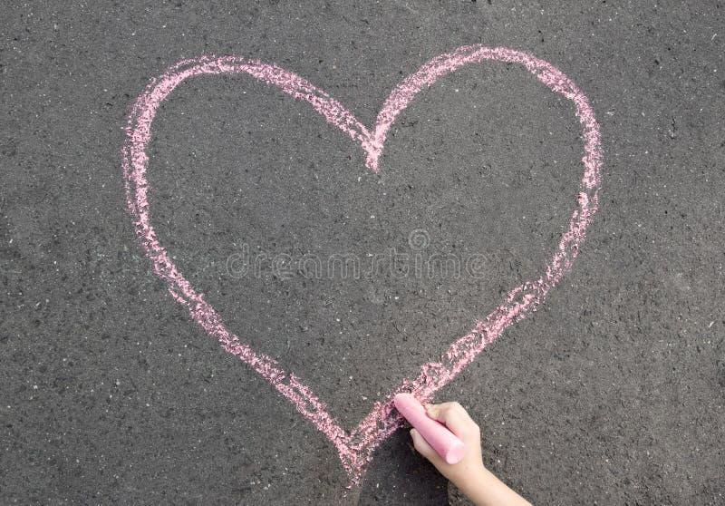 Corazón de la tiza fotos de archivo libres de regalías