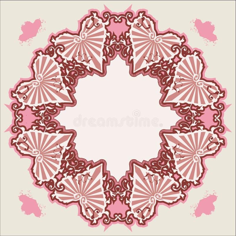 Corazón de la vendimia del Victorian del vector ilustración del vector