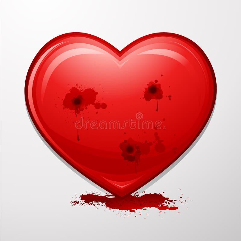 Corazón de las tarjetas del día de San Valentín ilustración del vector