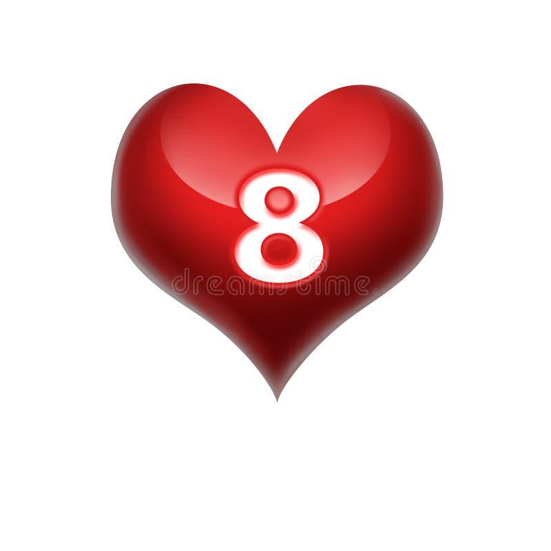 Corazón 8 de marzo imágenes de archivo libres de regalías