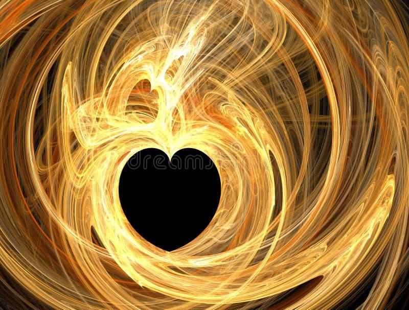 Corazón de oro stock de ilustración