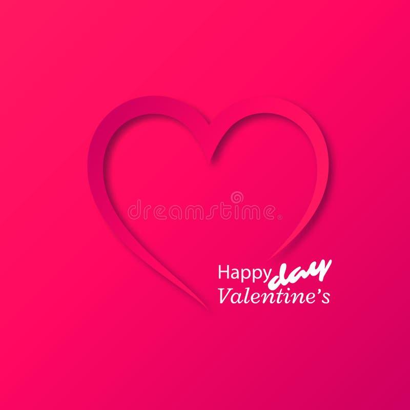 Corazón de papel, tarjeta del día de tarjetas del día de San Valentín libre illustration