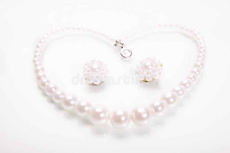 Corazón de perls imagen de archivo libre de regalías