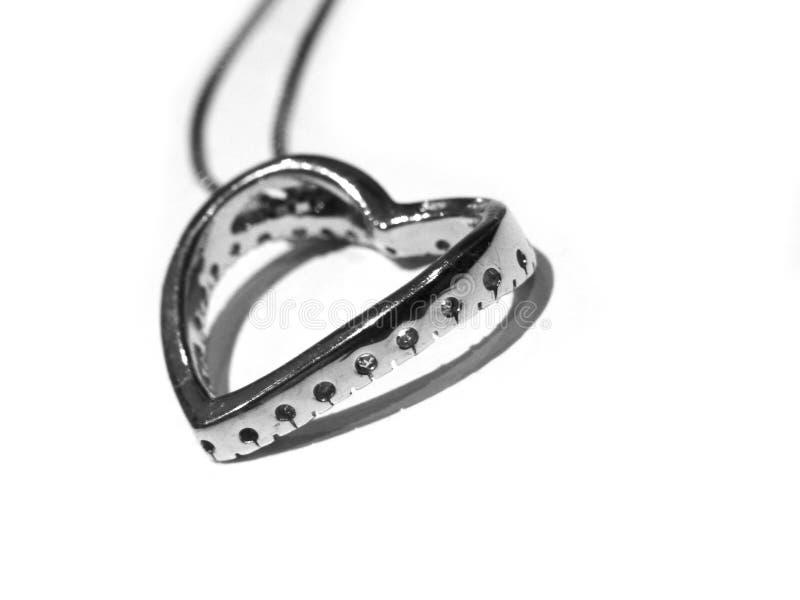 Corazón de plata imagen de archivo