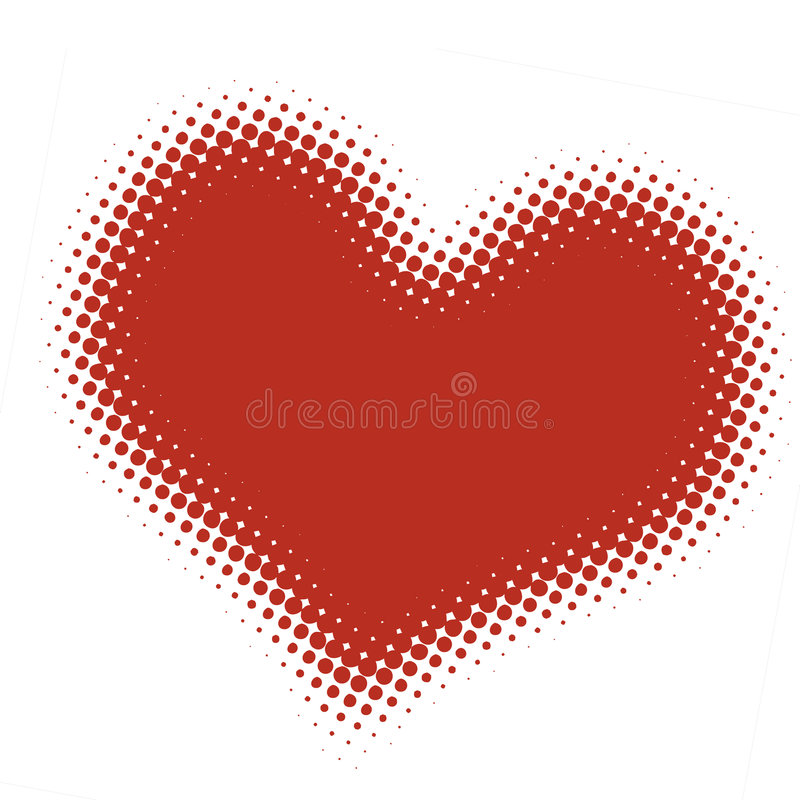 Corazón de semitono libre illustration