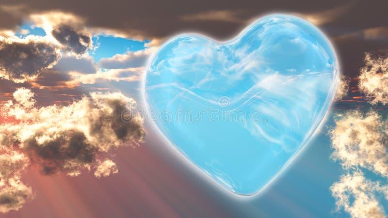 Corazón A de Spirtual imagen de archivo