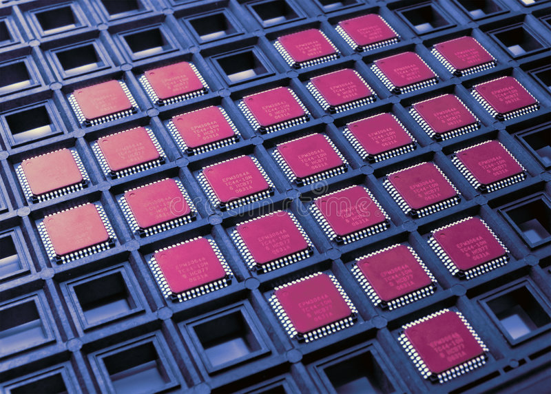 Corazón de virutas de la CPU fotografía de archivo