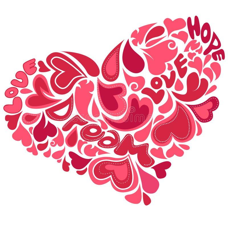 Corazón decorativo stock de ilustración