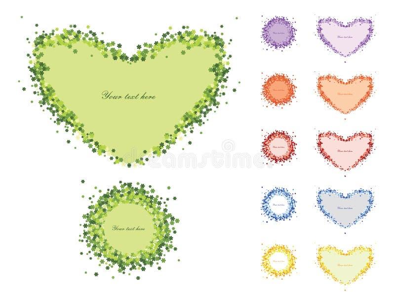 Corazón decorativo del marco de flores fotografía de archivo