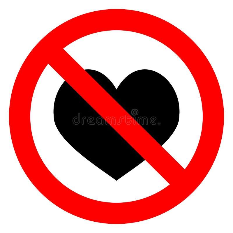 Corazón del amor de la prohibición libre illustration