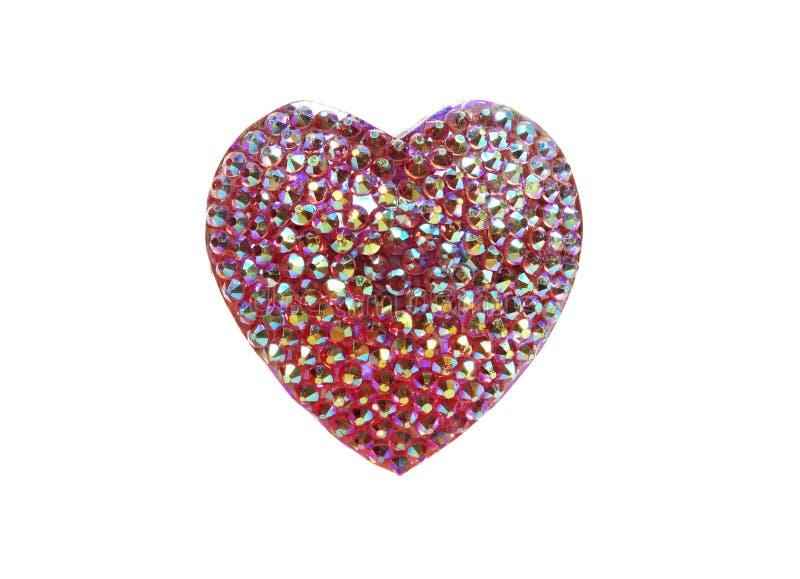 Corazón del anillo de la joyería con los cristales brillantes fotos de archivo libres de regalías