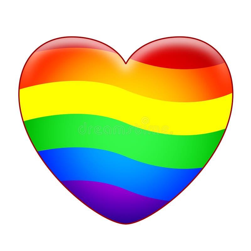 Corazón del arco iris ilustración del vector. Ilustración de ...