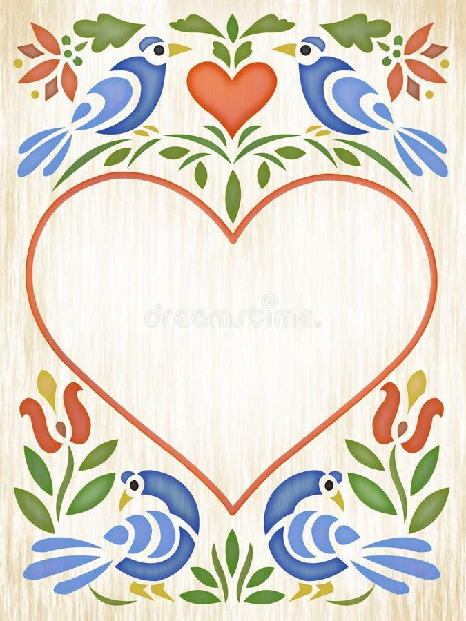 Corazón del arte popular ilustración del vector