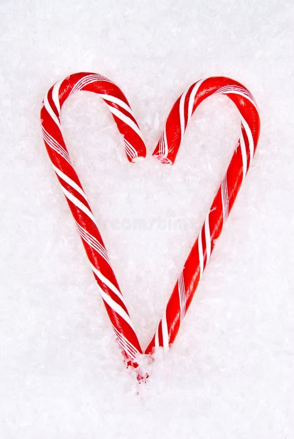 Corazón del bastón de caramelo imágenes de archivo libres de regalías