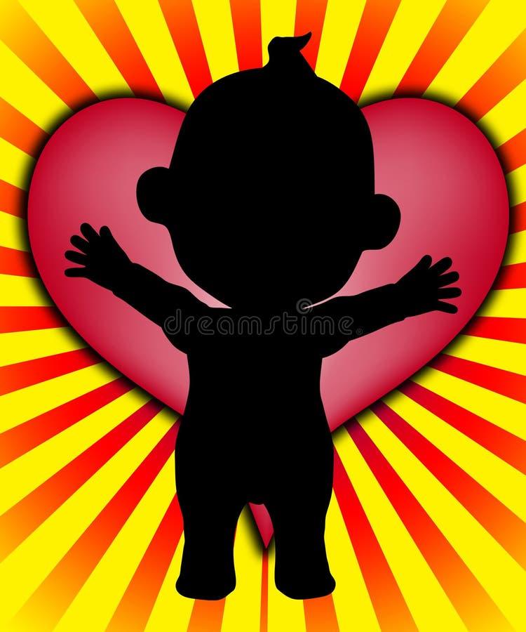 Corazón del bebé ilustración del vector