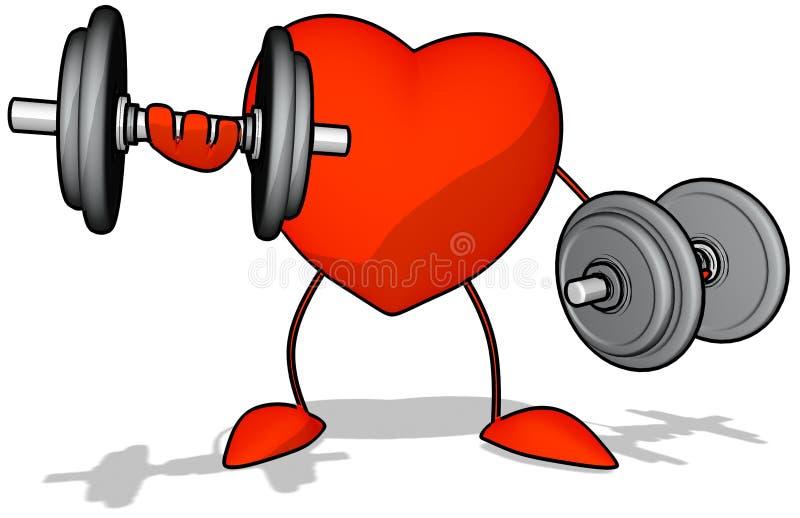 Corazón del Bodybuilding ilustración del vector