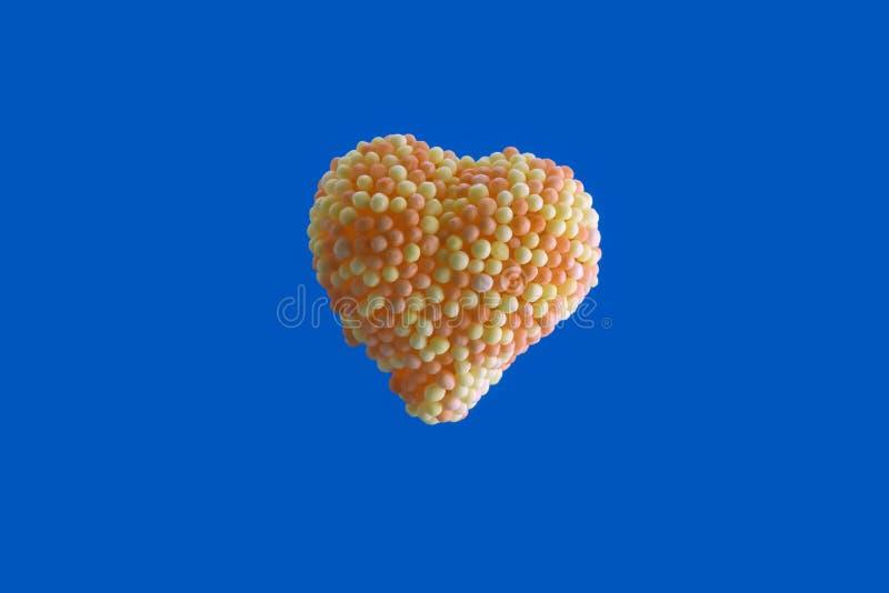 Corazón del caramelo fotos de archivo