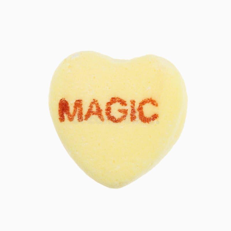 Corazón del caramelo en blanco. imagen de archivo
