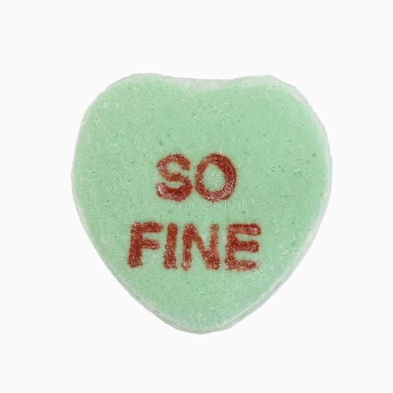 Corazón del caramelo en blanco. fotografía de archivo libre de regalías