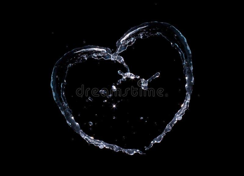 Corazón del chapoteo del agua foto de archivo libre de regalías