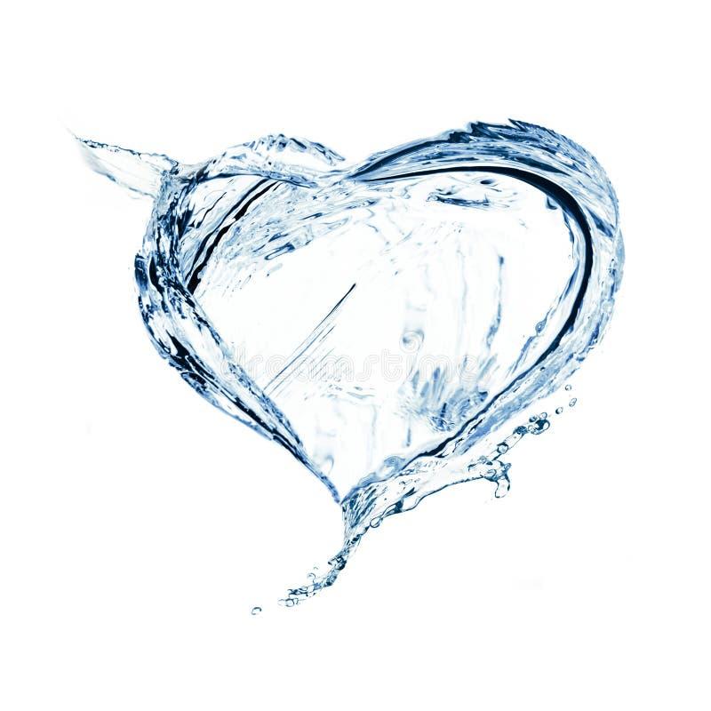 Corazón del chapoteo del agua fotos de archivo