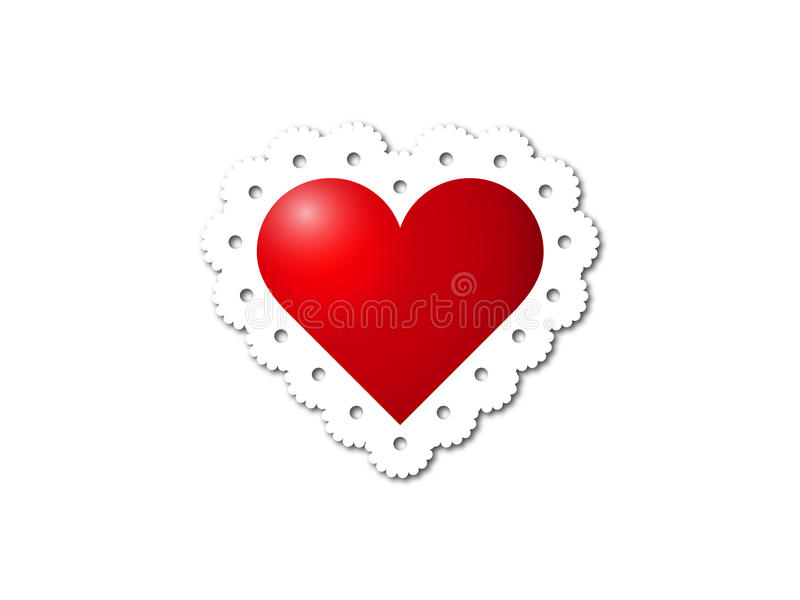Corazón del cordón fotografía de archivo