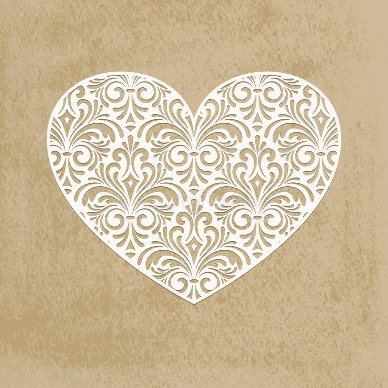 Corazón del corte del papel libre illustration