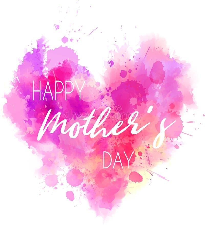 Corazón del día de fiesta del día del ` s de la madre stock de ilustración