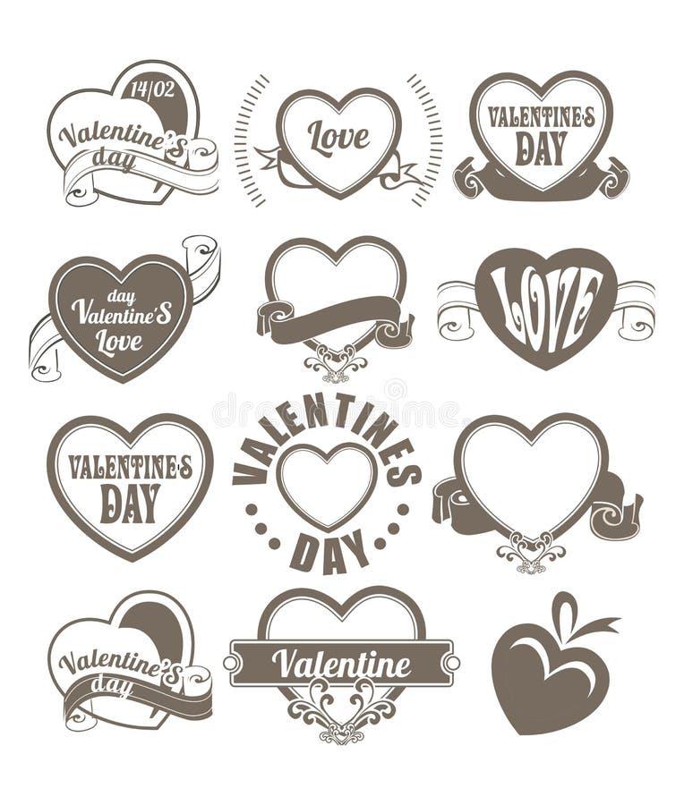 Corazón del día de tarjeta del día de San Valentín stock de ilustración