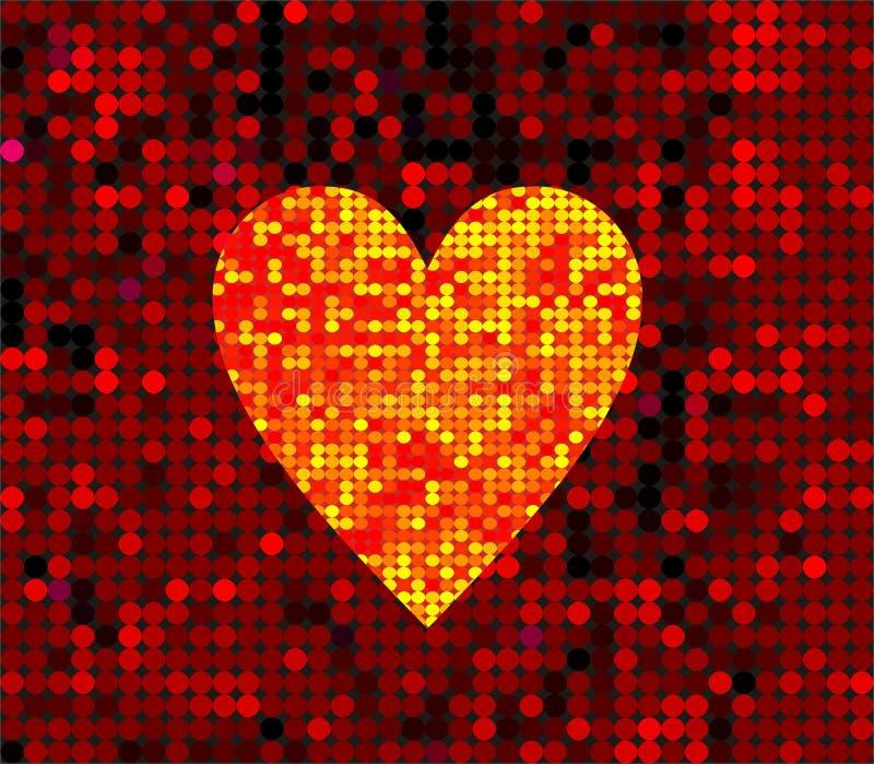 Corazón del disco stock de ilustración