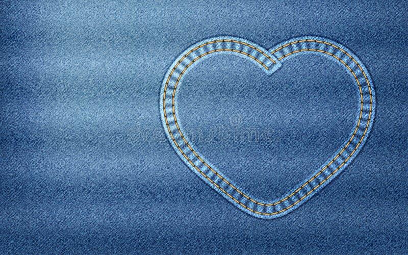 Corazón del dril de algodón imagenes de archivo