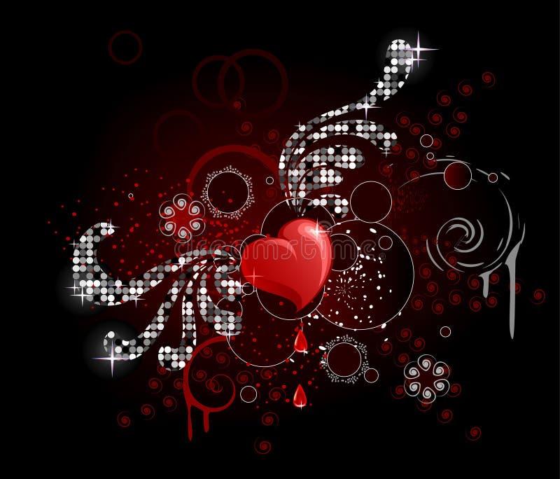 Corazón del encanto stock de ilustración
