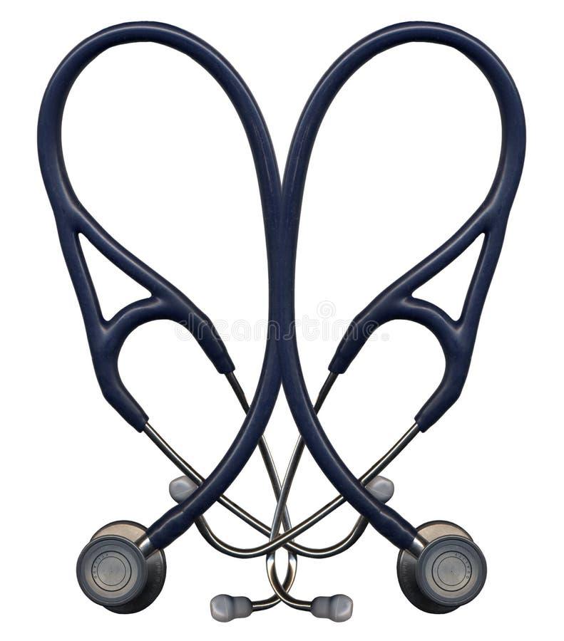 Download Corazón del estetoscopio foto de archivo. Imagen de enfermera - 1298576
