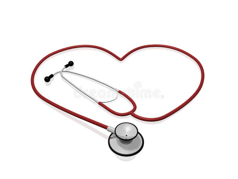 Corazón del estetoscopio libre illustration