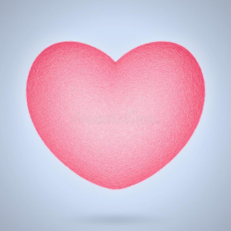 Corazón del fieltro del rosa libre illustration