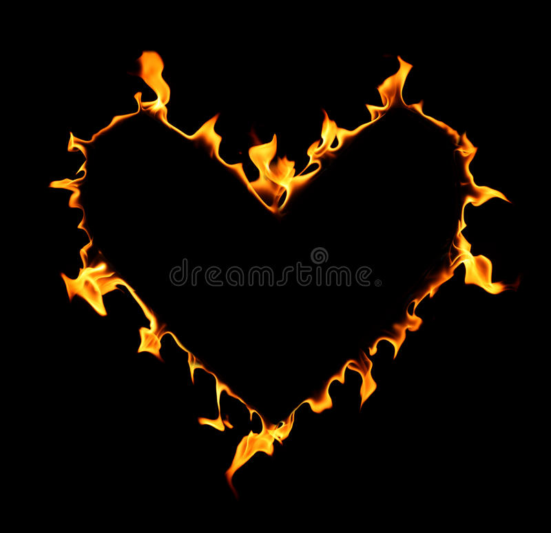 Corazón del fuego foto de archivo libre de regalías