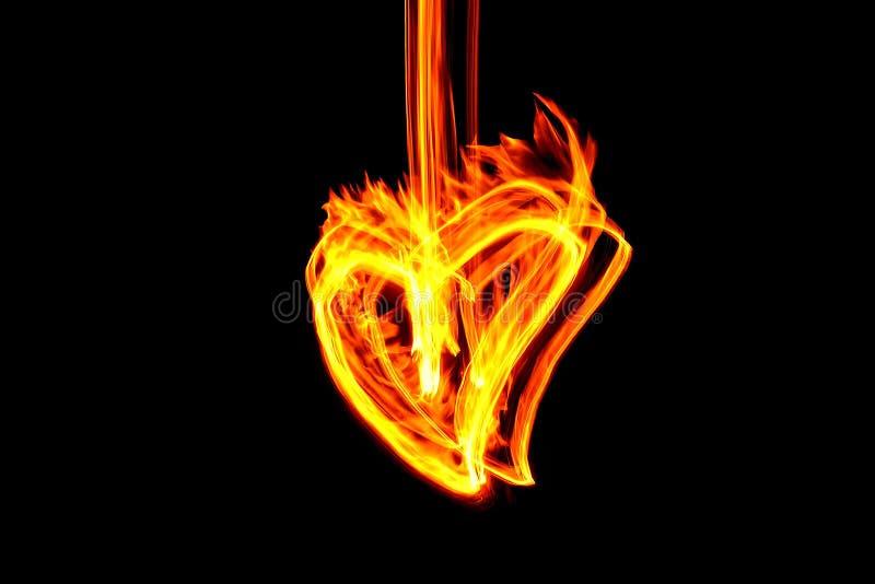 Corazón del fuego fotos de archivo libres de regalías