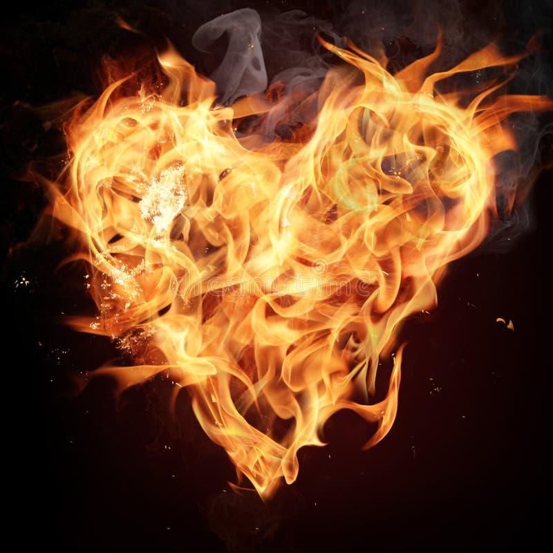 Corazón del fuego. fotografía de archivo libre de regalías