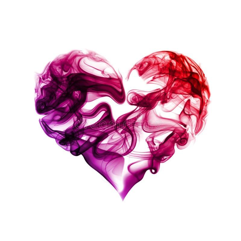Corazón del humo foto de archivo libre de regalías