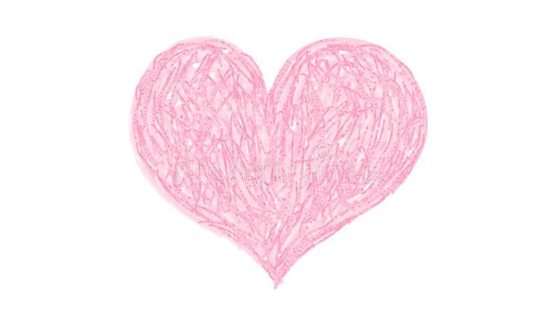 Corazón del lápiz del color del vector ilustración del vector