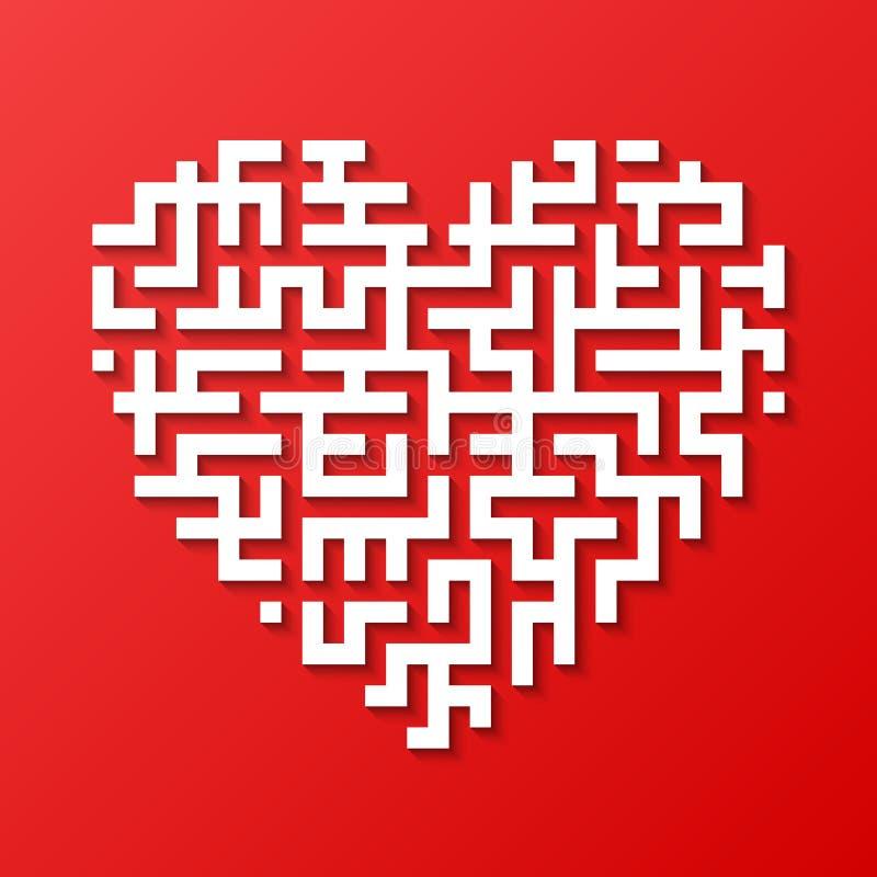 Corazón del laberinto stock de ilustración