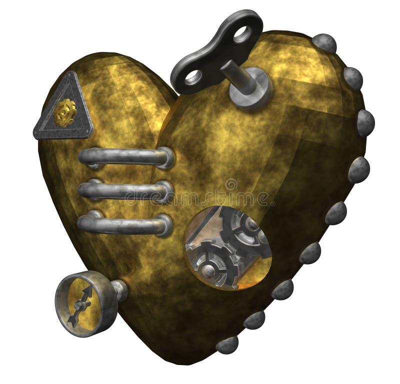Corazón del metal stock de ilustración