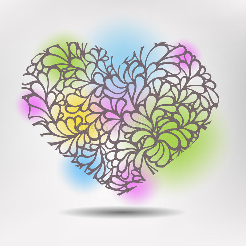 Corazón del modelo ilustración del vector