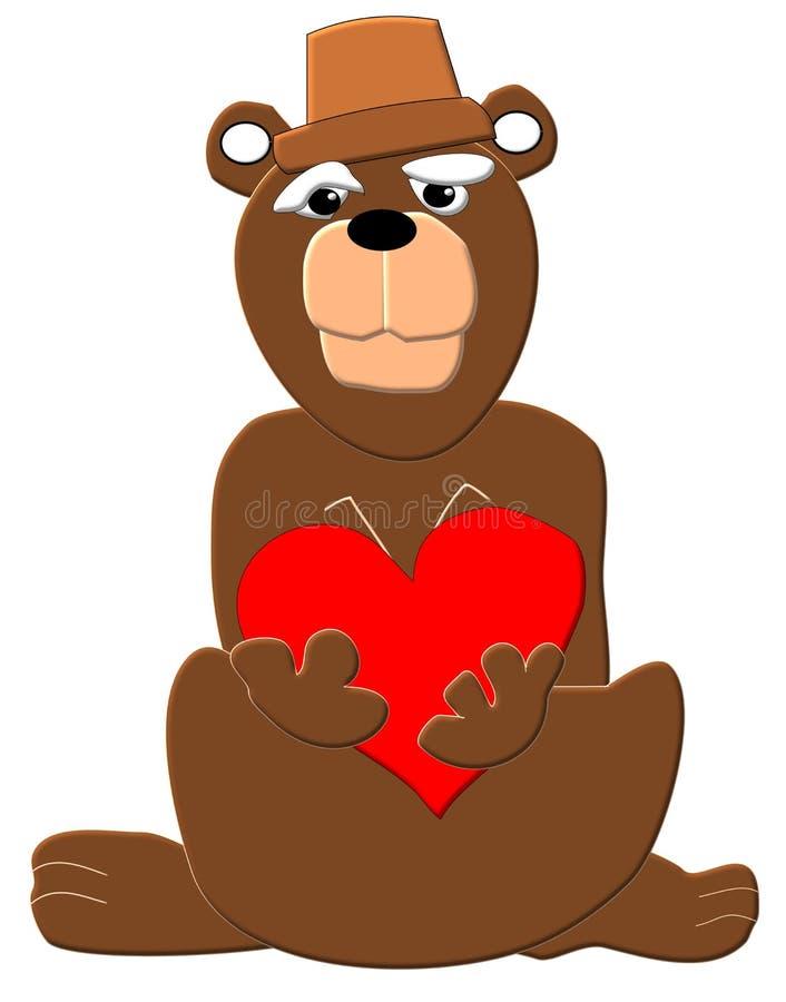 Corazón del oso imagenes de archivo