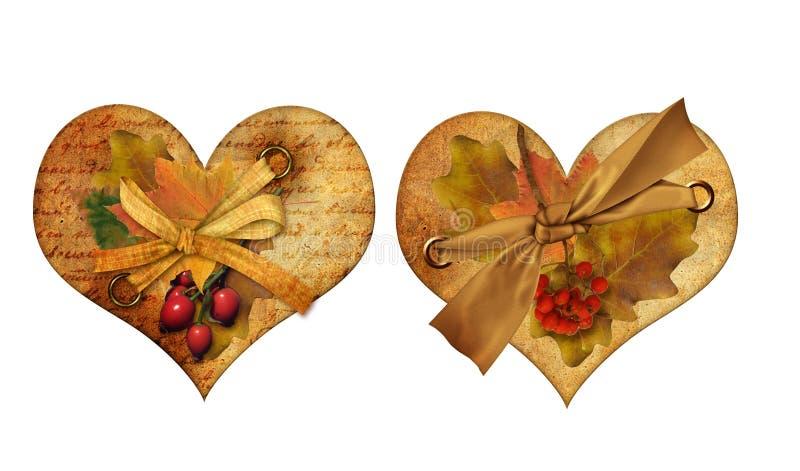 Corazón del otoño ilustración del vector