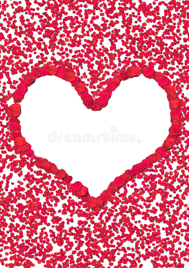 Corazón del pétalo de Rose imagen de archivo