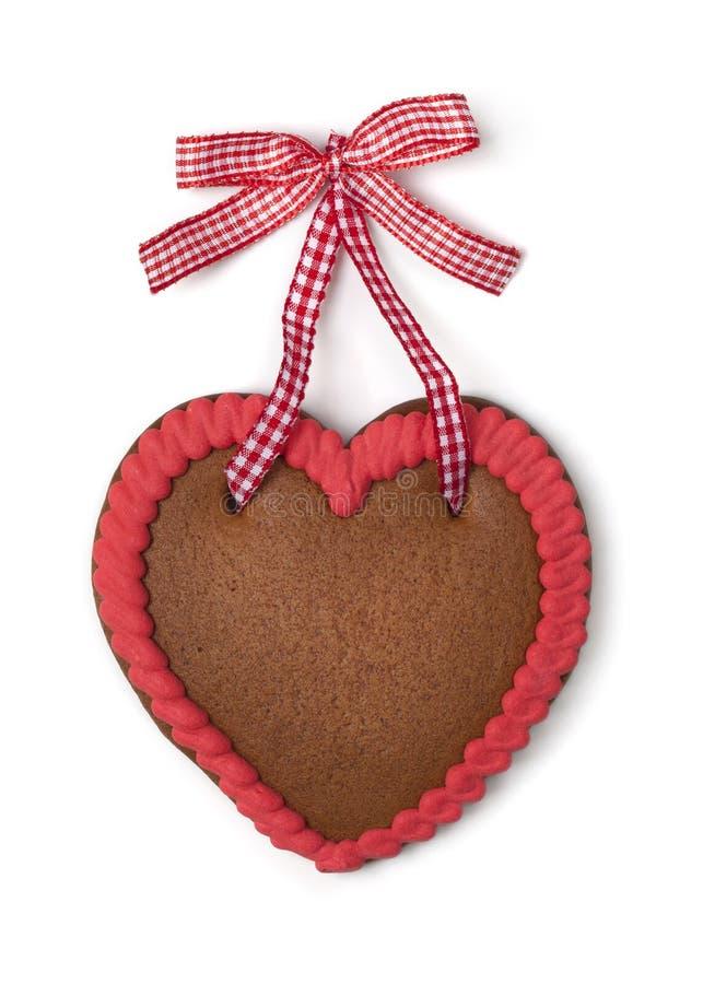 Corazón del pan de jengibre con el espacio de la copia imagen de archivo