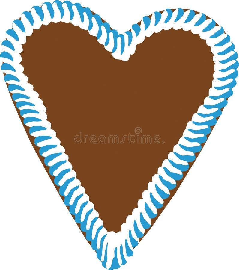 Corazón del pan de jengibre de Oktoberfest imágenes de archivo libres de regalías