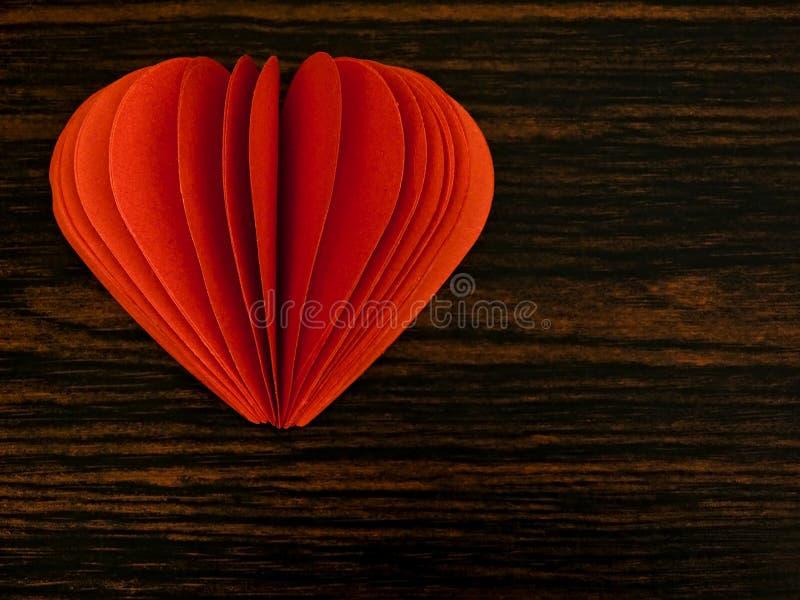 Corazón del papel fotografía de archivo